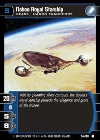 STAR WARS TCG ATTACK OF THE CLONES FOIL NABOO ROYAL STARSHIP (Naboo Star)