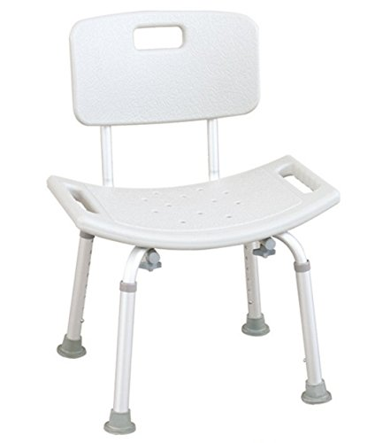 Tulimed Tool-Free Assembly Spa Bathtub Adjustable Shower Chair Seat Bench with Back
