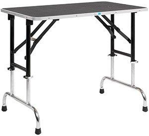 PetEdge Trimmtisch höhenverstellbar, 90 x 60 cm Tischplatte