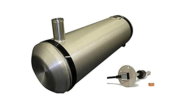 11 Gallons 10x33 End Fill Spun Aluminum Gas Tank with Sending Unit Flange
