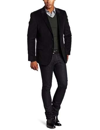 Tommy Hilfiger Men's Trim Fit Corduroy Sport Coat,  Black, 36 Short