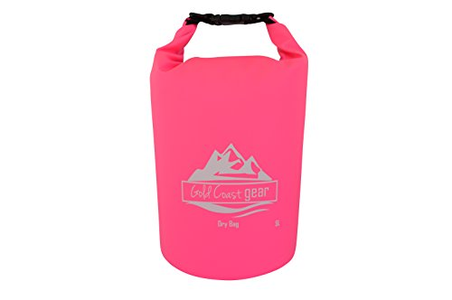 Gold Coast gear Dry Bag Waterproof Sack Multiple Sizes with Shoulder Strap (Pink, 5L)