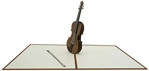 Tarjeta de felicitación de cumpleaños en 3D con diseño de violin ...