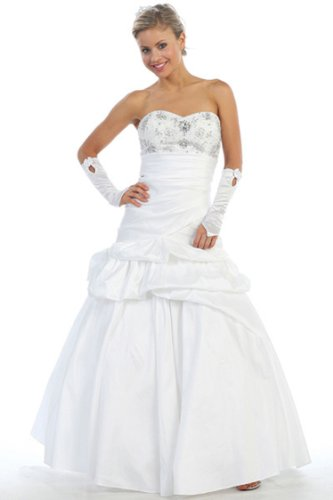 Fiory Naz Wedding Dresses FNJ-1175W-3XL Sweetheart neckline with beading and A line (Neckline Sweetheart Beadings)