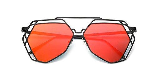Lennon style polarisées métallique de du en vintage retro soleil inspirées Mercure rond Rouge cercle lunettes awXRPnxq8X