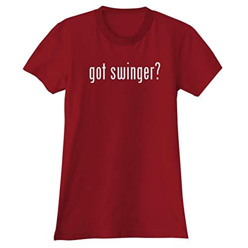 got Swinger? - A Soft & Comfortable Women's Junior Cut T-Shirt, Red, Large