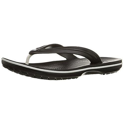 crocs Unisex Crocband Flip Flop,Black,Men's 10 M/Women's 12 M
