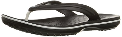 crocs Unisex Crocband Flip-Flop, Black, 13 US Men / 15 US -