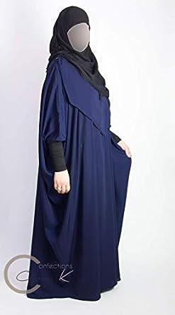 ConfectionsOumK Abaya Papillon de Maternit/é Maxi Robe d/'Allaitement et de Portage pour Materner B/éb/é Ouverture Verticale V/êtement Pratique Ample Convient /à Toutes Les Tailles