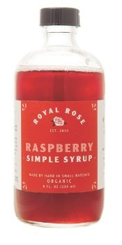 Royal Rose, Simple Syrup Raspberry Organic, 8 Ounce