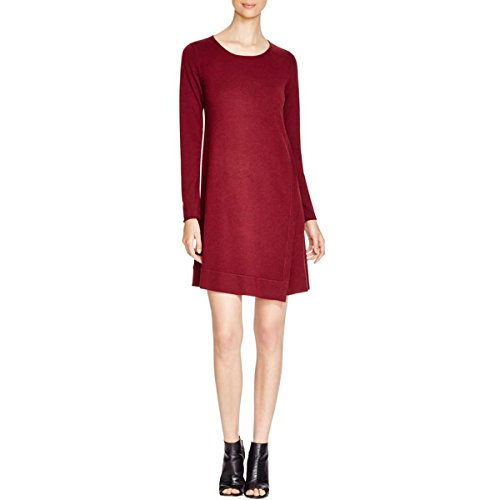 Eileen Fisher Merino Jersey Jewel Neck Dress Passion Flower (Petite (Merino Jewel Neck)