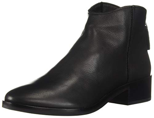 Dolce Vita Women's Tucker Ankle Boot, Black Leather, 6.5 M U