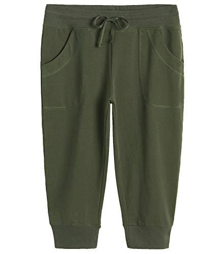 Weintee Women's Capri Joggers Jersey Sweatpants