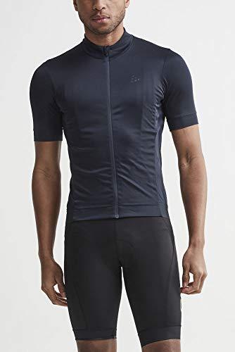 Craft Sportswear Mens Essence Bike Cycling Jersey UPF25+ Full Zip Short Sleeve Shirt,Blaze,Medium ()