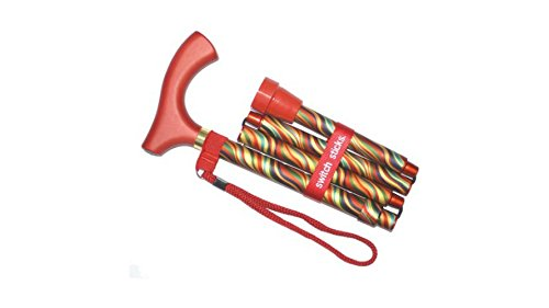 Puerto Rico National Costume For Boys (Soft Grip Derby Folding Walking Stick/Poles/Cane Collapsible Lightweight Orange multi)