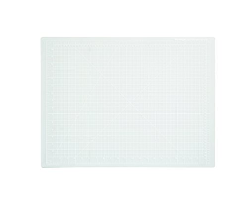 Dahle Vantage 10682 Self-Healing Cutting Mat, 18x24, 1/2 Grid, 5 Layers for Max Healing, Perfect for Cropping, Sewing, & Crafts, Clear