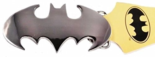 Batman Logo Belt Buckle - DC Comics BATMAN Silver Cutout Logo Metal Enamel BELT BUCKLE