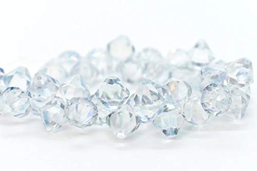 Jewelry Making Supplies - Crystal Ice - 8mm - Swarovski Crystal Top Drilled Bicone Pendant - 6301 (12 or 48 pcs) - Perfect and Stunning Beads