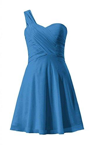Daisyformals Une Robe De Cocktail Épaule Mini Robe De Soirée Jupe (bm2430nr) # 37 Bleu Royal