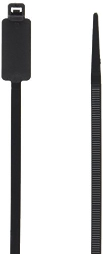 Monoprice Marker Cable Tie 8 inch 50LBS, 100pcs/Pack - Black