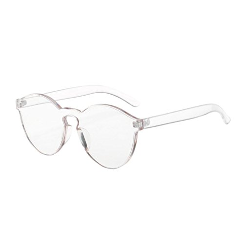 QingFan Fashion Round Vintage Cat Eye Mirrored Metal Frame Women Sunglasses (White, - Eye Cat Glasses Cheap Vintage