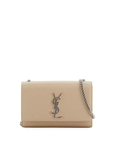 Saint Laurent Kate Monogram YSL Small Chain Shoulder Bag Made in Italy ( Beige) d2573fd5be