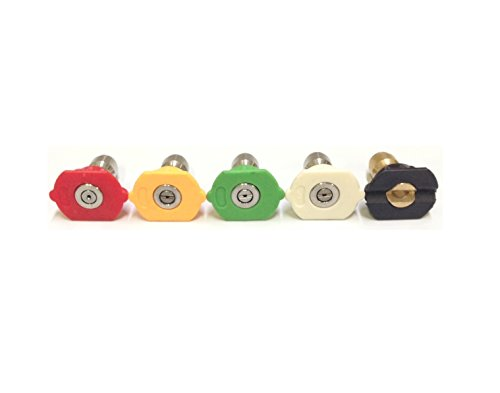 e Washer Spray Nozzle 2.5 GPM 5 Pack Tip Set 1/4
