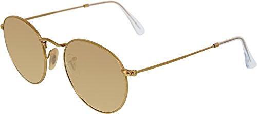 Ray-Ban Round Metal RB3447 Sunglasses Matte Gold / Brown Mirror Pink 50mm & Cleaning Kit - Rb3447 Pink
