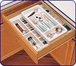 Rev-A-Shelf Rolling Cutlery Tray Insert Half Tray 21-3/4'' W X 4-1/8'' H