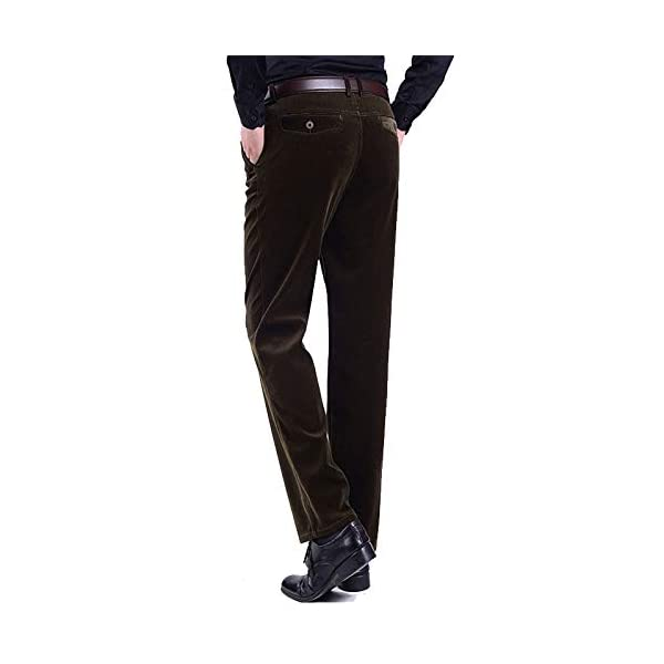 SwissWell Homme Pantalon en Velours Côtelé Coupe Droite Tissu Confortable Pantalon Elastique Casual pour l'Automne Hiver