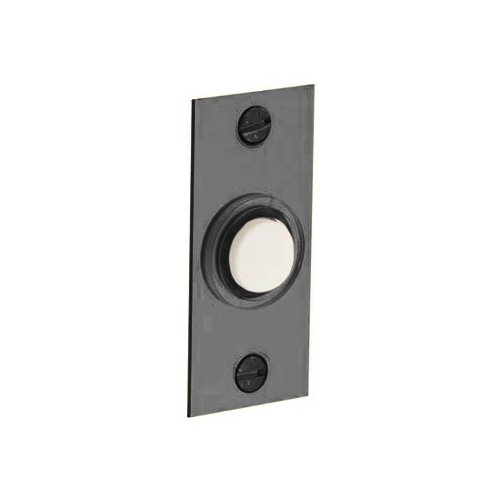 Rectangular Doorbell Button (Baldwin 4853.151 Rectangular Doorbell Button, Antique Nickel)