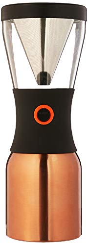 Asobu Coldbrew Portable Cold Brew Coffee Maker With a Vacuum Insulated 40oz Stainless Steel 18 8 Carafe Bpa Free Copper