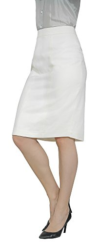 Marycrafts Women's Lined Pencil Skirt 4 Work Business Office 10 Beige by Marycrafts