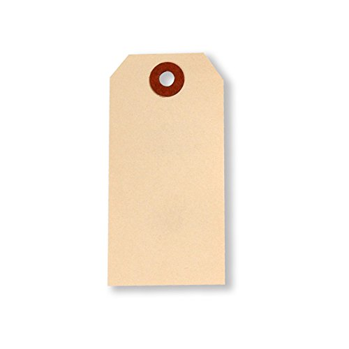 UltraSource Shipping Eyelet Tags, 1.875'' x 3.75'' Manila (Pack of 1000) by UltraSource