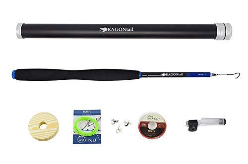 DRAGONtail Tenkara Talon 330 Backpacking Tenkara Rod & Case with Furled Line Starter Kit, 10.6 Ft