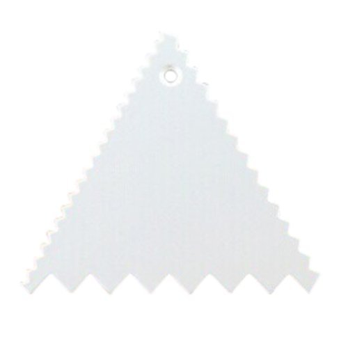TOOGOO(R)TRIANGLE PLASTIC decorating CAKE SCRAPER icing FONDANT BAKING jagged SAWTOOTH 95*95*95mm by TOOGOO(R) (Image #2)