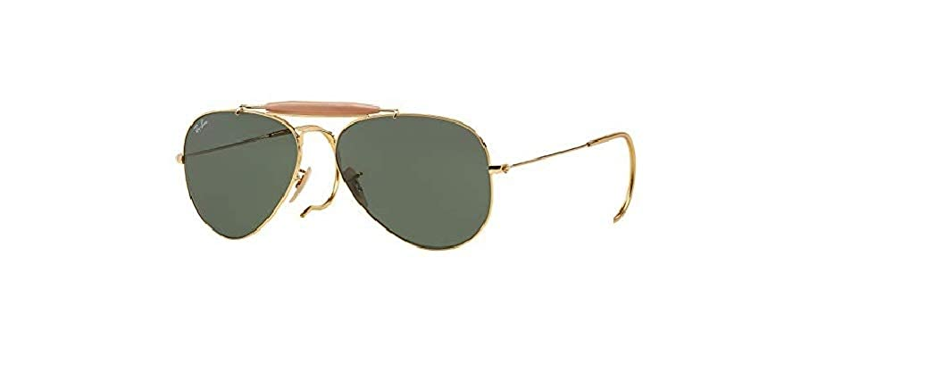 01692daef1 Amazon.com  Ray Ban Outdoorsman RB3030 L0216 Arista G-15 XLT 58mm Sunglasses   Shoes