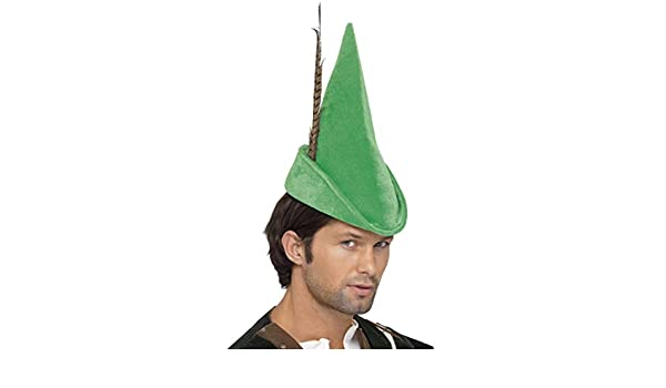 Smiffy S 20037 Sombrero De Robin Hood Con Pluma Deluxe d26ae3935fd