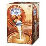 International Delight 827965 Liquid Non-Dairy Coffee Creamer, Hazelnut, 0.4375 oz Cups, 192 Cups/CT