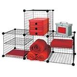 4 cube mesh grid storage system kitchen home. Black Bedroom Furniture Sets. Home Design Ideas
