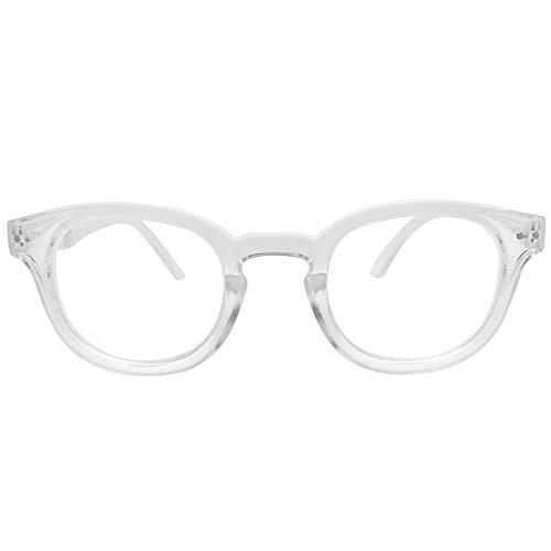 The Portland Keyhole Round Reading Glasses Set (Clear, 2.0)