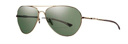 Smith Optics - AUDIBLE/N, Aviator, titanium, men, MATTE GOLD/CHROMAPOP GREY GREEN POLARIZED(AOZ/PZ A), - Sunglasses Audible Smith