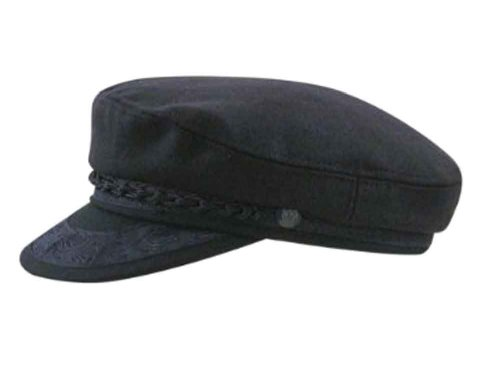Aegean Mens Navy Wool Greek Fisherman Cap Navy 7 1/4 (Cap Greek Fisherman)