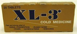 XL3 Cold Medicine Tablets 20 CT Pack of 3