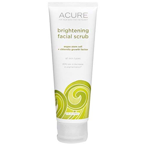 Acure Organics, Brightening Facial Scrub, 4 fl oz (118 ml) - 2pc
