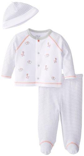 Little Me Baby-Boys Newborn Safari Take Me Home Set, Grey/Multi, Newborn