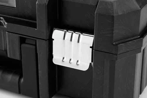 Stanley 195828 Caja de herramientas Stanley con cierre galvanizado con ruedas, 66 cm