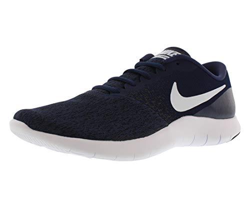 Nike Mens Flex Contact Running Shoe, Midnight Navy White-Black, 11