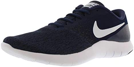 Nike Mens Flex Contact Running Shoe, Midnight Navy White-Black, 11