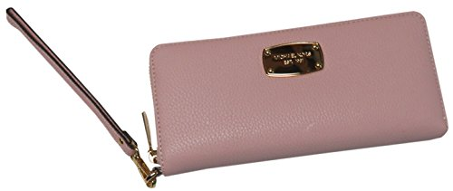 Micheal Kors Jet Set Continental Leather Travel Wallet Wristlet Blossom Pink by Michael Kors